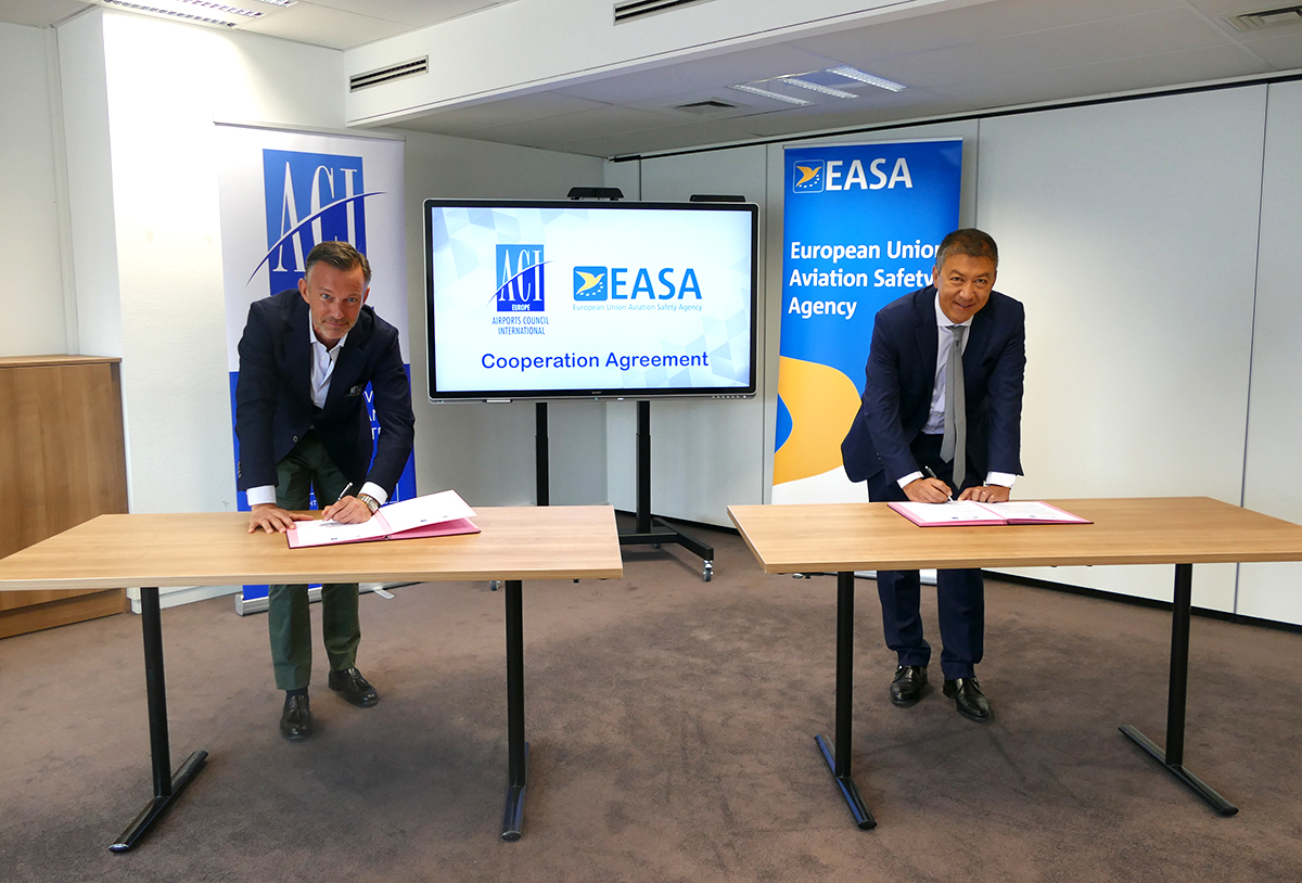 200717 EASA ACI EUROPE Cooperation Agreement Signature